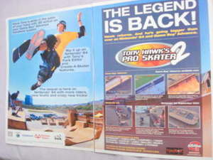 2001 Ad Video Game Tony Hawk's Pro Skater 2