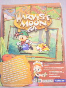 2001 Ad Video Game Harvest Moon 64 By Natsume