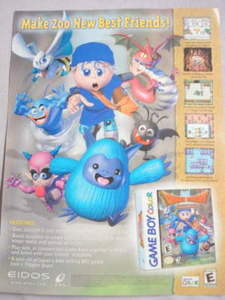 2001 Ad Video Game Dragon Warrior Monsters by Eidos