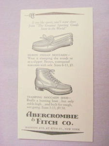 1941 Moccasins Ad Abercrombie & Fitch Co., New York