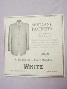 1941 Clothing Store Ad White, New Haven, Ct.