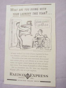1941 Railway Express Agency Ad Send Your Laundry Home
