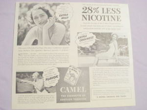 1941 Camel Cigarettes Ad With Dorothy Van Nuys