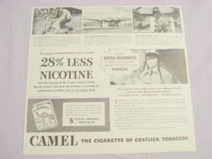 1941 Camel Cigarettes Ad With Lockheed Test Pilot