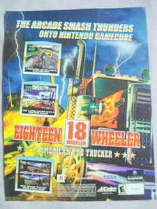 2002 Ad Video Game 18 Wheeler by Acclaim