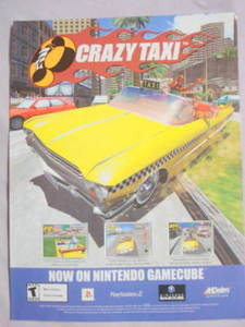 2002 Ad Video Game Crazy Taxi by Acclaim