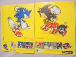 2002 Ad Video Game Sonic Adventure 2 Battle