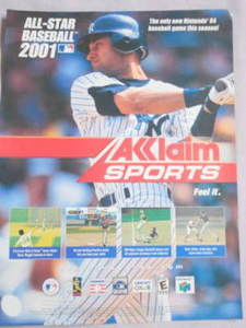 2001 Ad Video Game All-Star Baseball 2001 Derek Jeter