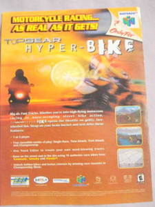 2000 Ad Video Game TopGear Hyper-Bike