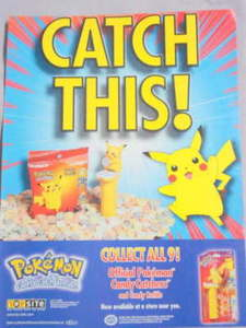 2000 Ad Pokeman Candy Catchers and Candy Refills