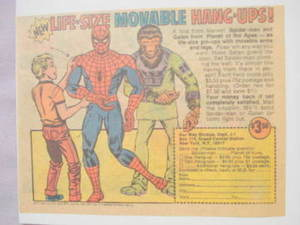 1975 Ad Spider-Man and Planet of the Apes Hang-Ups