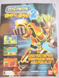 2003 Ad Video Game Digimon Battle Spirit 2