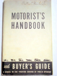 Motor's Handbook GM 1930's Booklet World's Fair