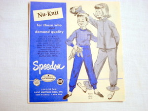 1957 Ad Nu-Knit Children's Cotton Clothing by Speedon
