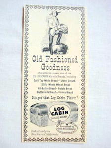 1957 Ad Log Cabin Variety Breads