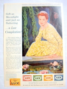 1957 Ad Lux Soap with Deborah Kerr