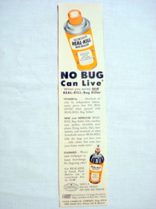 1957 Ad Real-Kill Bug Killer, Cook Chemical Co.