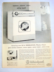 1957 Ad RCA Whirlpool Washer-Dryer