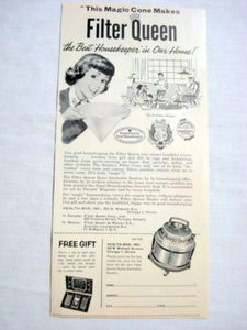 1957 Ad Filter Queen Home Sanitation System Health-Mor