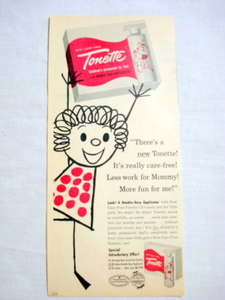 1957 Ad Tonette Children's Permanent By Toni
