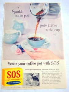 1957 Ad S.O.S. Magic Scouring Pads