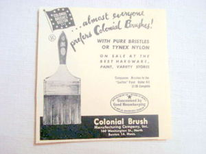 1957 Ad Colonial Brush Manufacturing Co., Boston, Mass.