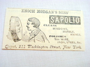1870 Ad Enoch Morgan's Sons' Sapolio Cleaner, Polisher