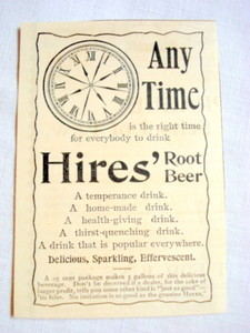 1893 Ad Hires Root Beer Any Time