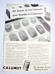1962 Ad Calumet The Double-Acting Baking Powder