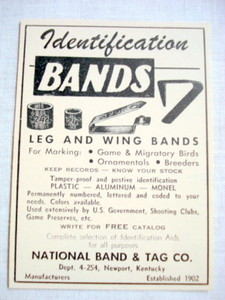 1962 Ad National Band & Tag Co., Newport, Ky.