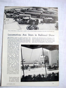 1939 World's Fair Railroad Locomotive Magazine Article
