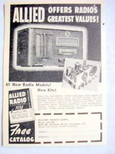1938 Ad Allied Radio Corporation, Chicago, Illinois