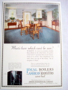 1924 Ad American Radiator Co., Boilers and Radiators