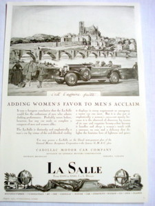 1927 Automobile Ad La Salle General Motors