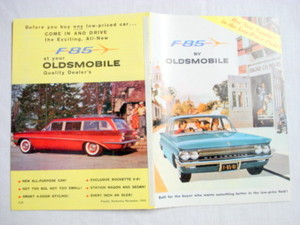 1960 Oldsmobile F-85 12 Page Advertising Brochure