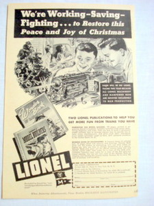 1943 Lionel Trains Ad Two New Lionel Publications