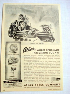 1943 Ad Atlas Press Company, Kalamazoo, Michigan
