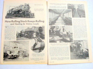1943 WWII Railroad Magazine Article Rolling Stock