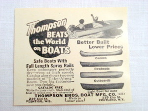 1946 Ad Thompson Bros. Boat Mfg. Co., Cortland, N. Y.