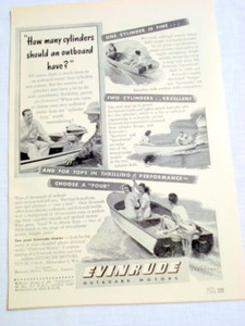 1946 Ad Evinrude Outboard Motors Milwaukee, Wisc.