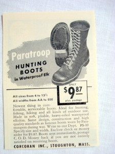 1946 Hunting Boots Ad Corcoran Inc., Stoughton, Mass.