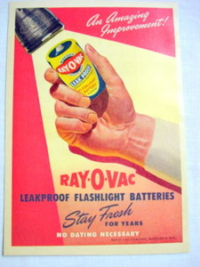 1946 Ray-O-Vac Flashlight Batteries Ad Madison, Wisc.