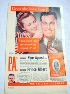 1946 Ad Prince Albert Tobacco Does She Love Him?