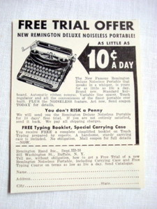 1939 Ad Remington Rand Portable Typewriter, Buffalo NY