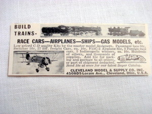 1940 Ad Cleveland Model & Supply Co, Cleveland, Ohio