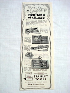 1940 Ad Stanley Tools, New Britain, Ct. Gifts For Men