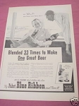 1940 Pabst Blue Ribbon Beer Ad