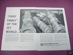 1958 Jet Engines Ad Pratt & Whitney Aircraft