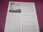 1958 Military Magazine Article Massive Retaliation
