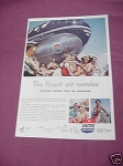 1950 United Air Lines Ad Between Hawaii & the Mainland